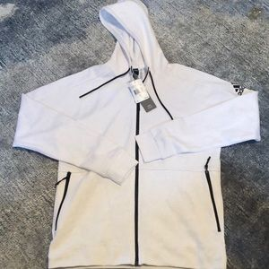MENS ADIDAS size L zip up hoodie NWT